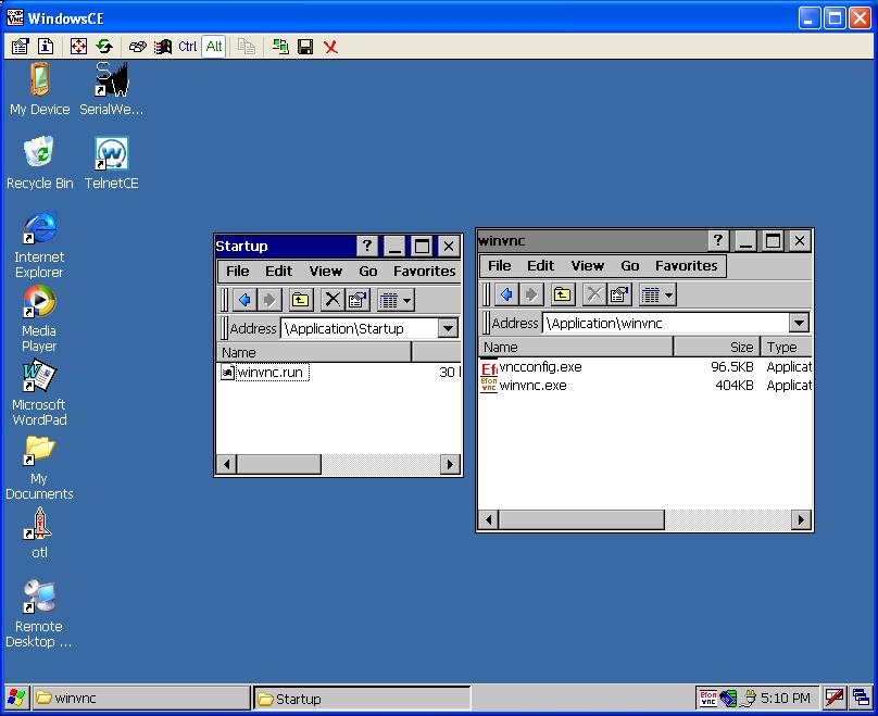 Windows CE 5 (Symbol VC5090) Remote Control on a Shoestring