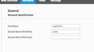 Add a domain name to the ipv4 domain name field