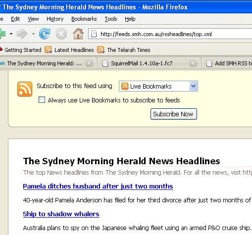 Firefox RSS