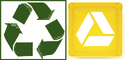 Google Drive Mobius Loop Icon looks Vaguely like a Recycling Symbol